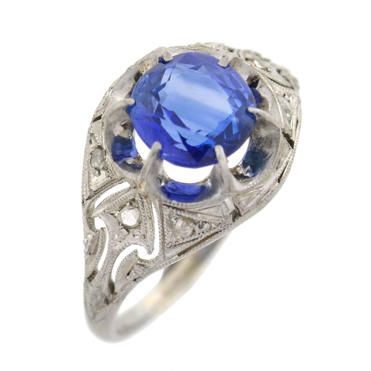 edwardian sapphire platinum ring at 1stdibs