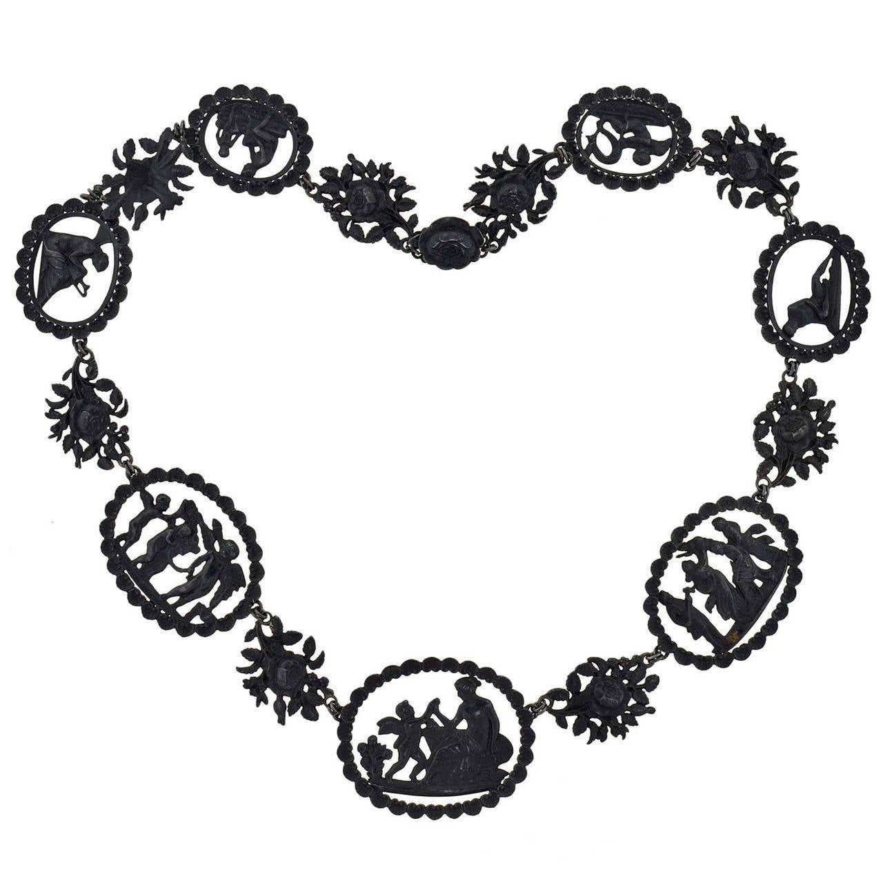 Exceptional Georgian Berlin Iron Link Necklace