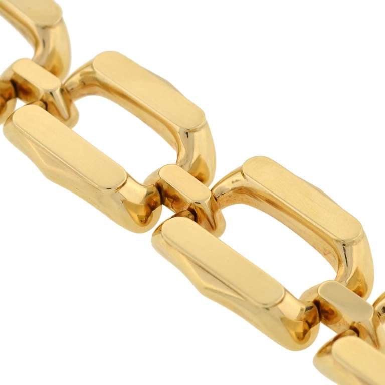 1960s Heavy Gold Link Bracelet 1