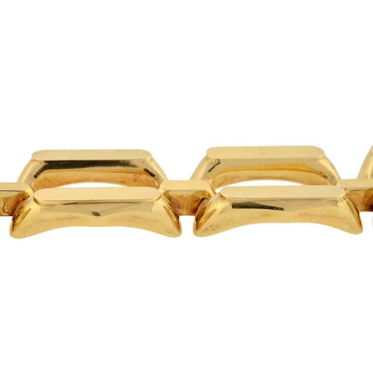 Women's 1960s Heavy Gold Link Bracelet