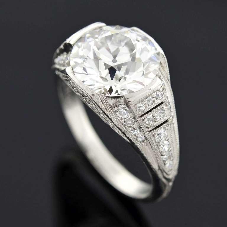 J E Caldwell 4 02 Carat Diamond Platinum Engagement Ring