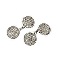 Edwardian Checkerboard Rose Cut Diamond Cufflinks