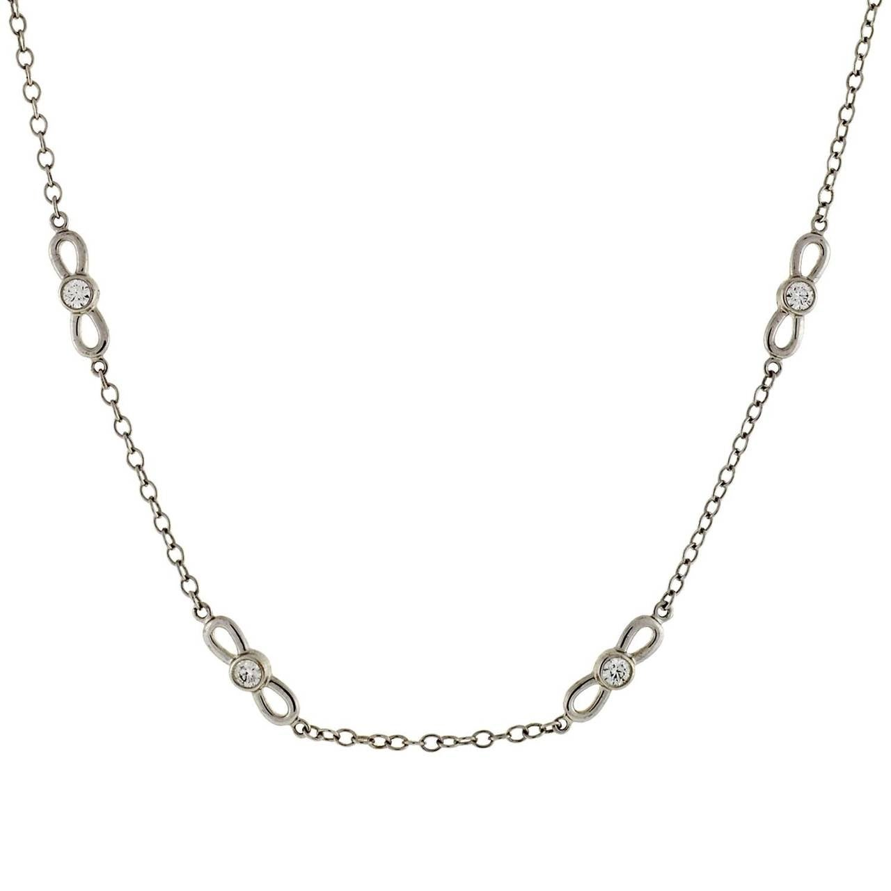 Jewelry Necklaces Link Necklaces Tiffany Co Diamond Gold Link Chain Necklace Id J 772102 Tiffany Chain Necklace