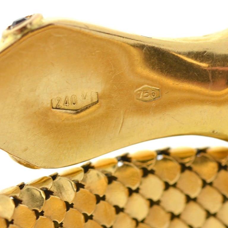 Retro Gold Flexible Wrap-Around Coiled Snake Bracelet 5