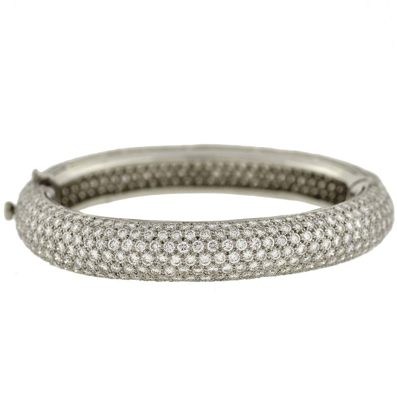 bracelets bangles pave diamond black and dunay white bangle joaillier bracelet