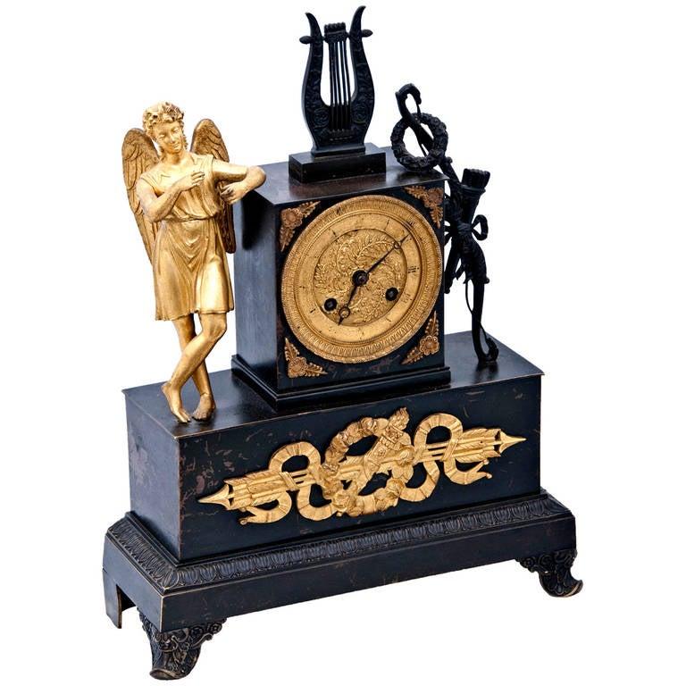 A 19th century French Empire Mantel Clock
