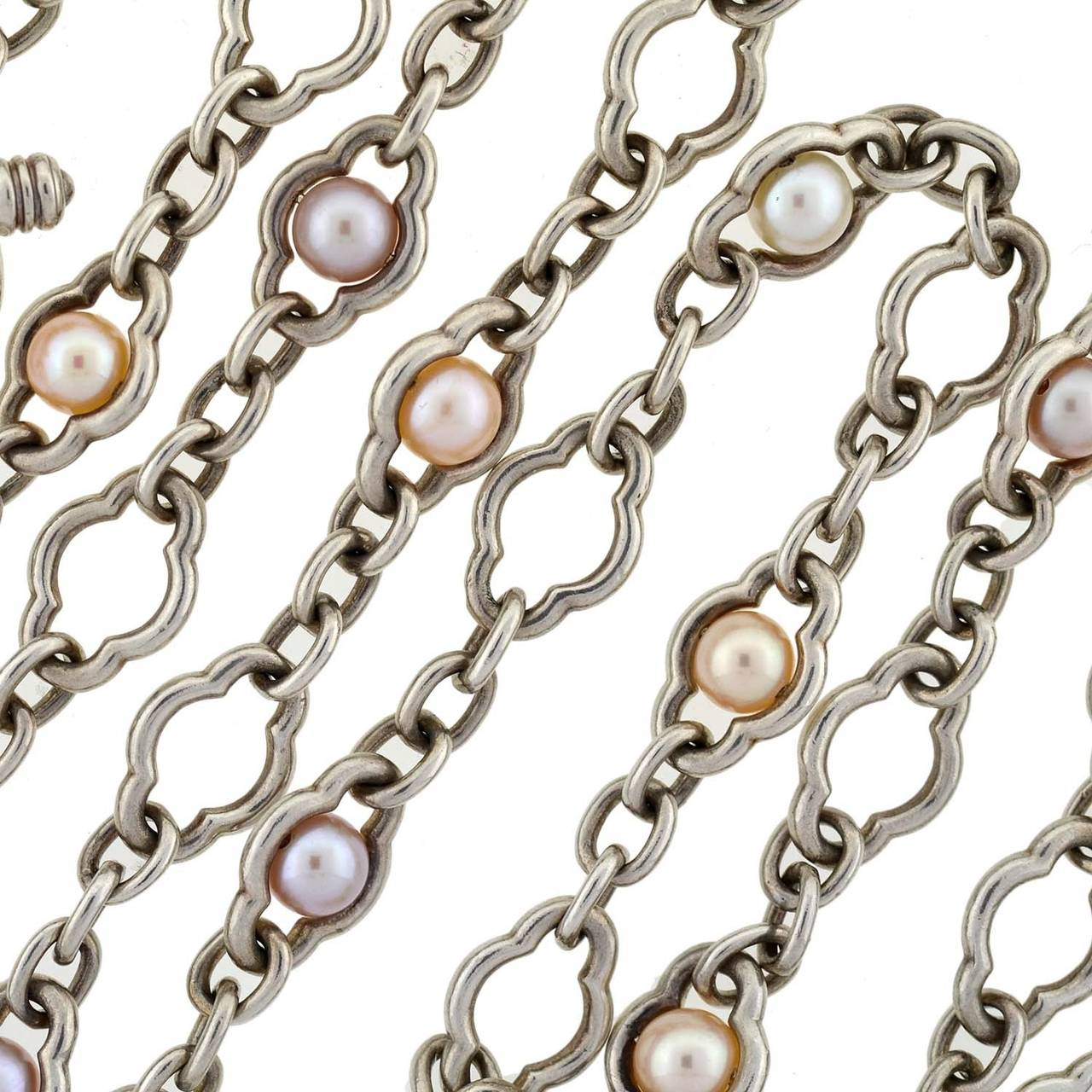 Charles Krypell Fresh Water 80 Inch Pearl Chain Necklace