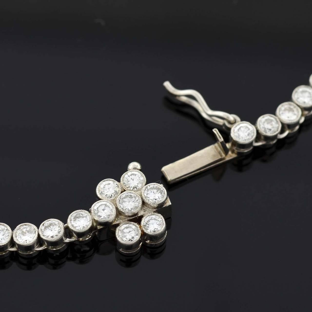 Contemporary Diamond Riviere Necklace For Sale 2
