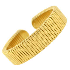Gold Flexible Cuff Bracelet