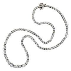 Contemporary Diamond Riviere Necklace
