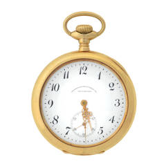 Waltham Yellow Gold Pocket Watch Retailed by Bailey, Banks & Biddle circa 1904
