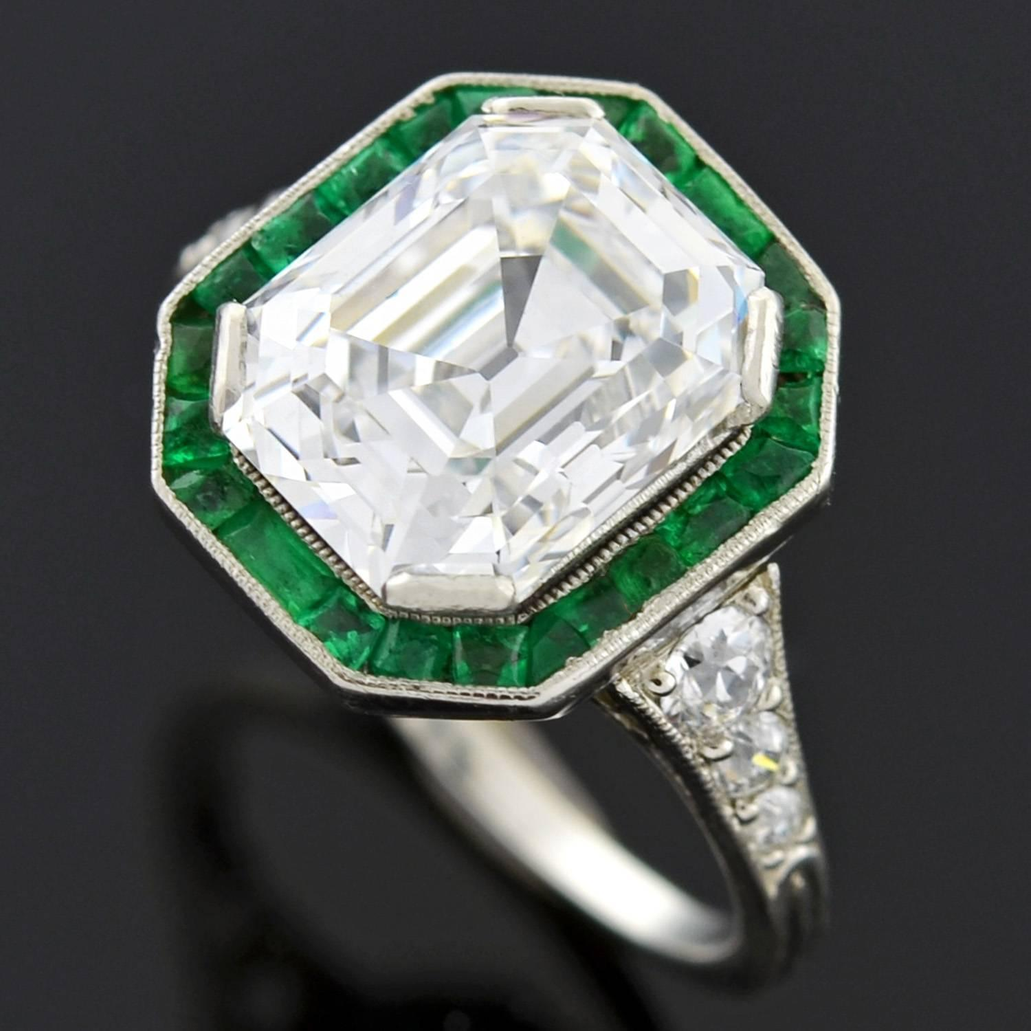 shop ring plat emeralds cut emerald products diamond platinum cts
