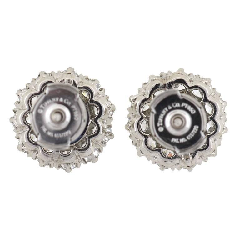 Tiffany & Co. Art Deco Burma Sapphire Diamond Platinum Earrings 6