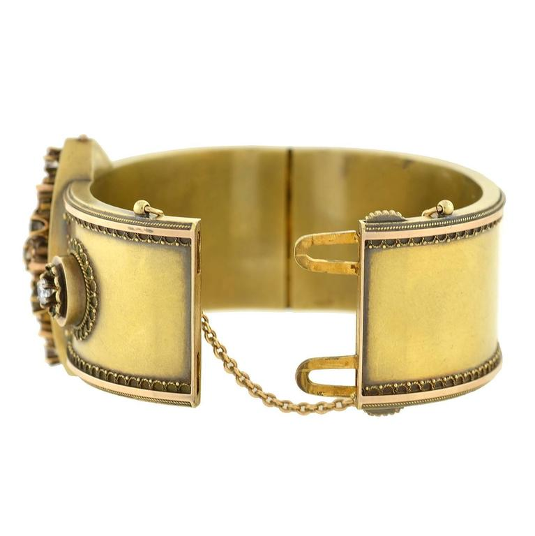 bangle diamond cut gold grahams hinged a image fancia jewellers yellow bracelet solid