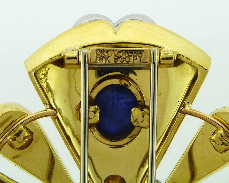 D.Webb Maltese Cross Diamond Pearl Sapphire Enamel Pendant/Brooch and Ring Set For Sale 5