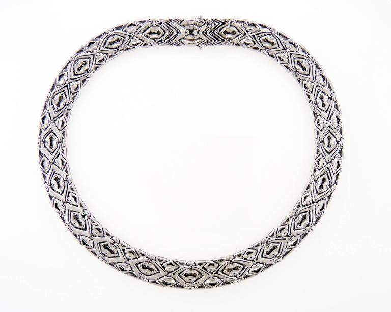 Bvlgari Diamond 18 Karat White Gold Quot Trika Quot Necklace For
