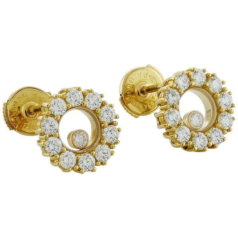 Diamond 18 Karat Gold Earrings, Chopard