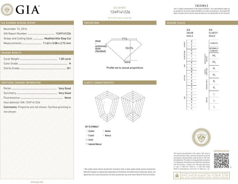 Modern Style GIA Certified Diamond Platinum Cross For Sale 3
