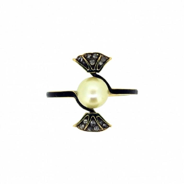 1890s ren 233 lalique nouveau enamel pearl gold