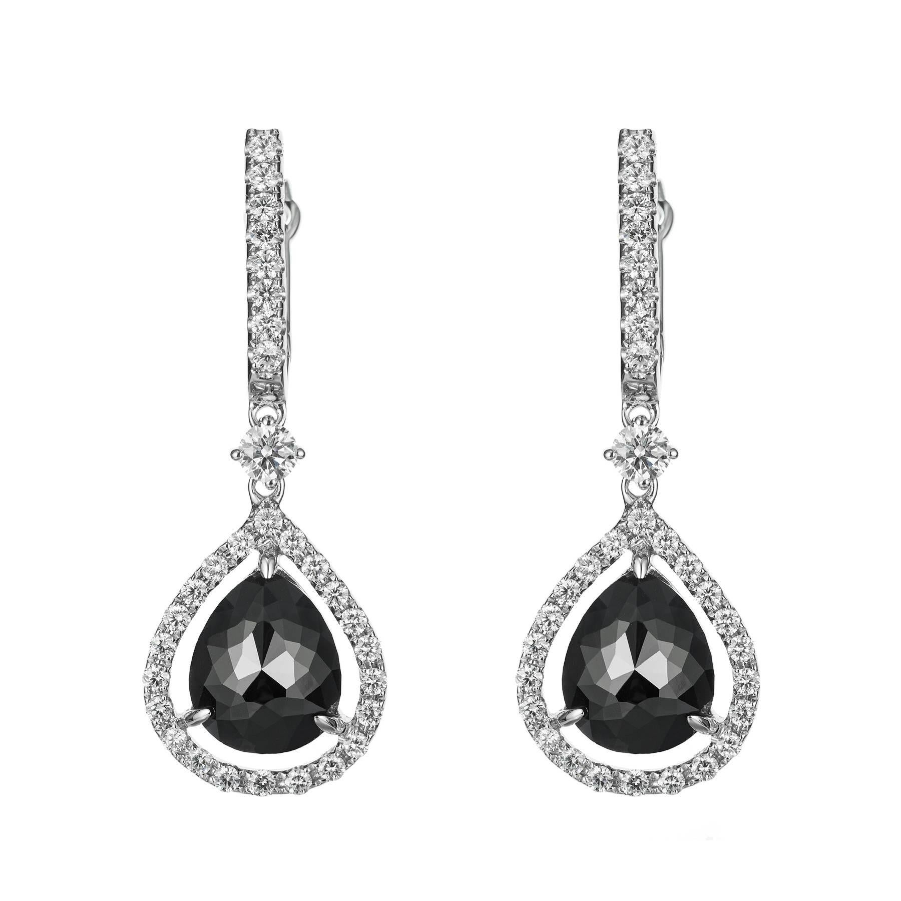 t earrings with collections pear diamond rough baguettes ann jewels products shaped p lesley
