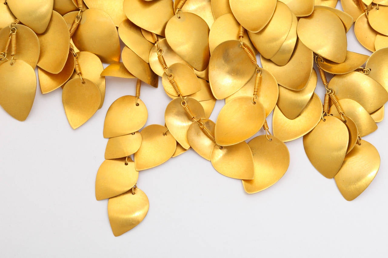 Gold Leaf Vine Necklace 4