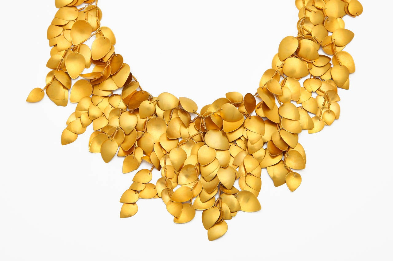 Gold Leaf Vine Necklace 2