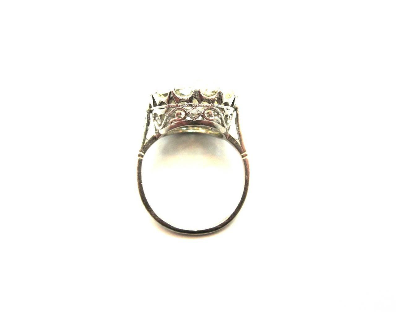 Incredible Edwardian 766 Carat Cushion Cut Diamond Crown Style Engagement  Ring 3