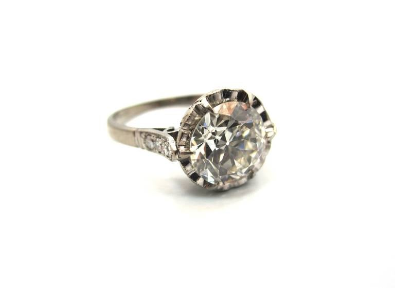 Timeless Edwardian 2.06 Carat Old European Cut Diamond ...