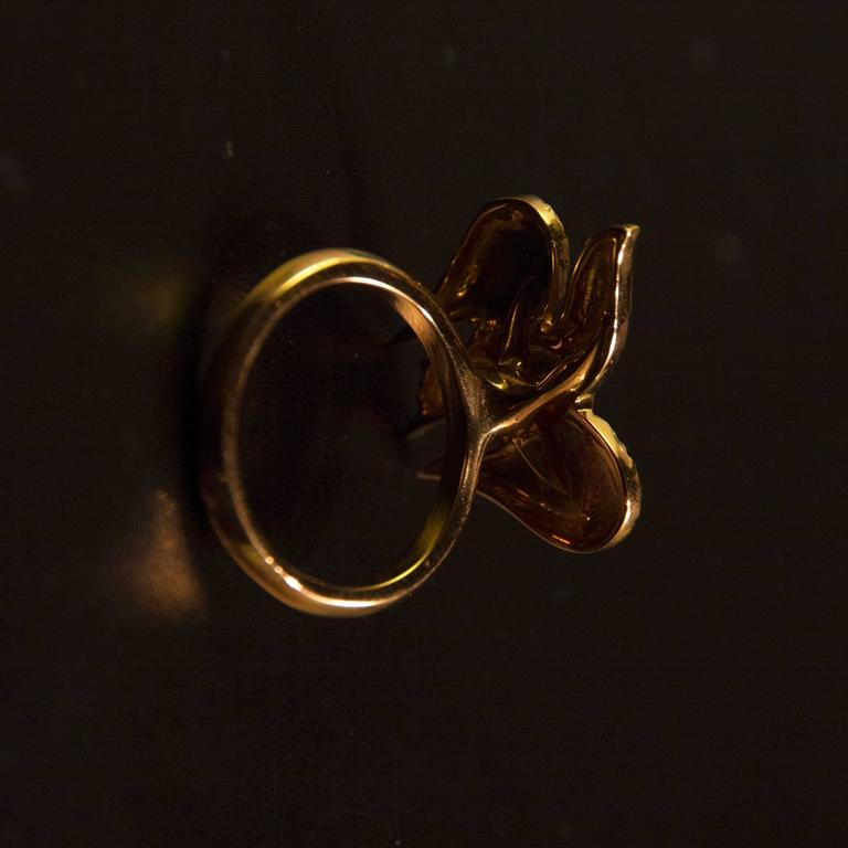 """Women's 1963 Georges Braque Gold """"Lachesis"""" Ring For Sale"""