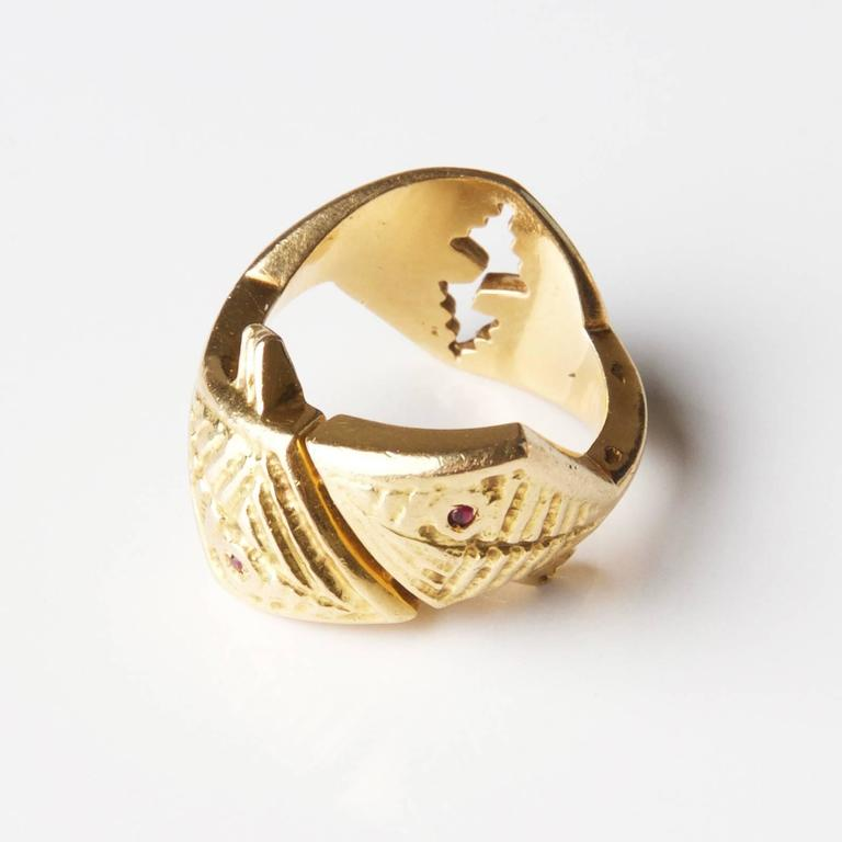 Rare 1962 Georges Braque  'Arethusa' Ruby  Gold Ring 2