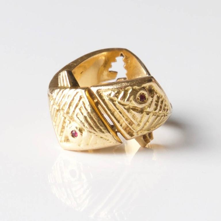 Rare 1962 Georges Braque  'Arethusa' Ruby  Gold Ring 3