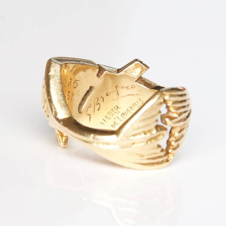 Rare 1962 Georges Braque  'Arethusa' Ruby  Gold Ring 4