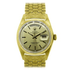 Rolex Yellow Gold Day-Date Spanish Dial Automatic Wristwatch Ref 1803