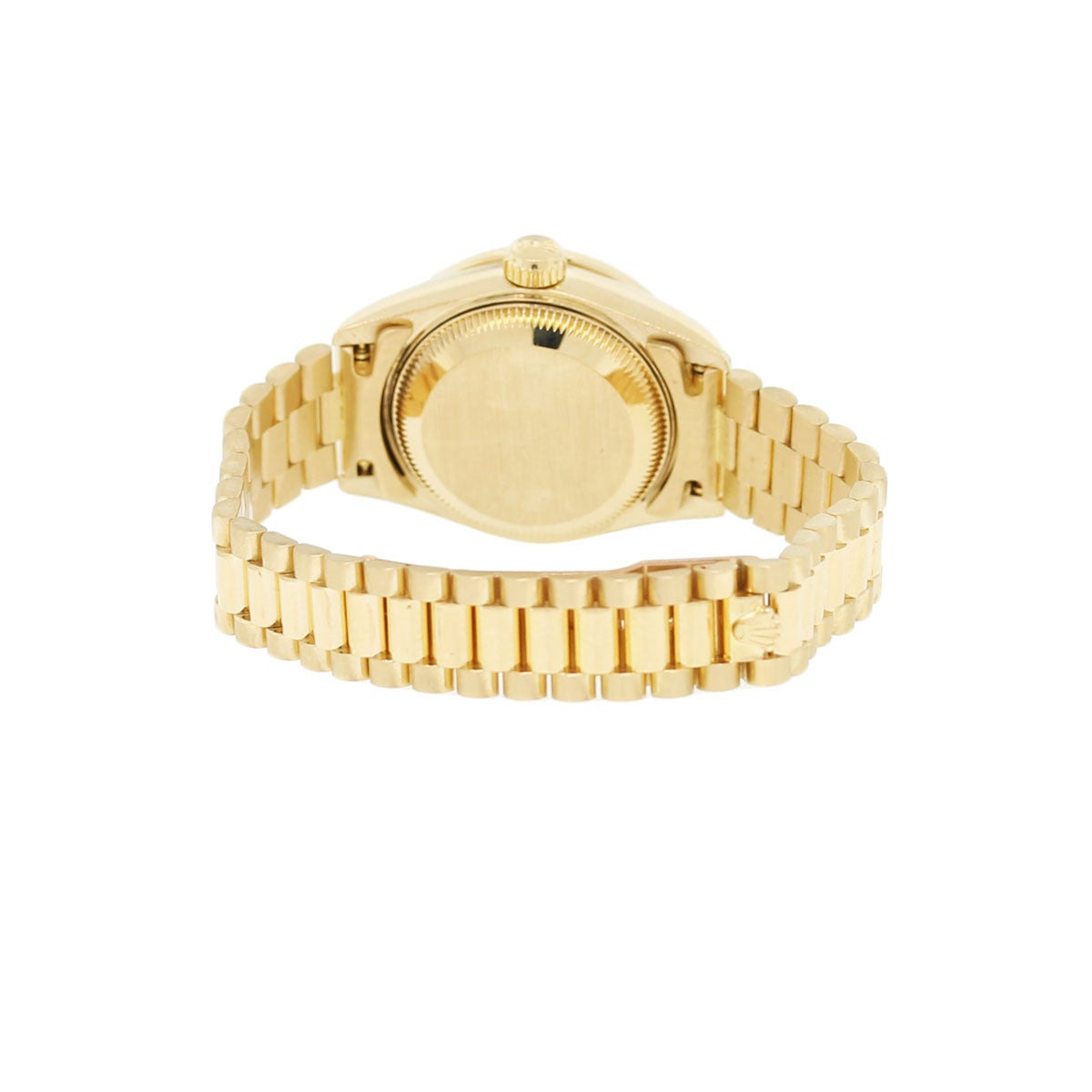 Rolex Lady's Yellow Gold Oyster Datejust Presidential Diamond Watch Ref 69158 5