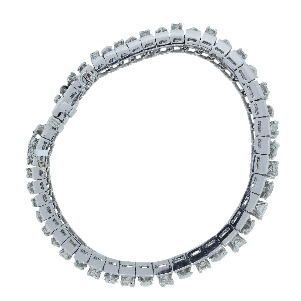 Modern Diamond Platinum Bracelet For Sale