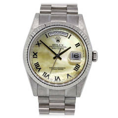 Rolex White Gold Oyster Perpetual Day-Date Wristwatch Ref 118239