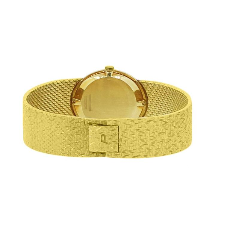 Women's Piaget Ladies Yellow Gold Jade Stone Manual Dial Wristwatch For Sale