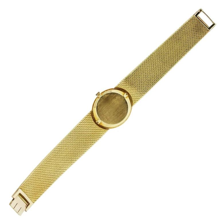 Piaget Ladies Yellow Gold Jade Stone Manual Dial Wristwatch For Sale 3