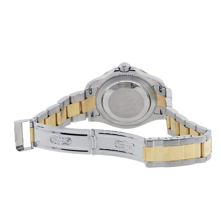 Rolex Yellow Gold Stainless Steel Yachtmaster Automatic Wristwatch Ref 16623  4