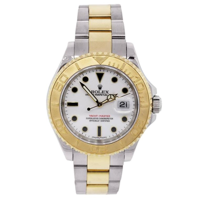 Rolex Yellow Gold Stainless Steel Yachtmaster Automatic Wristwatch Ref 16623  2