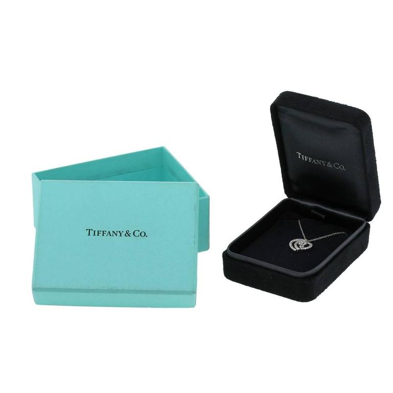 Tiffany & Co. Diamond Platinum Heart Pendant Necklace For Sale 2