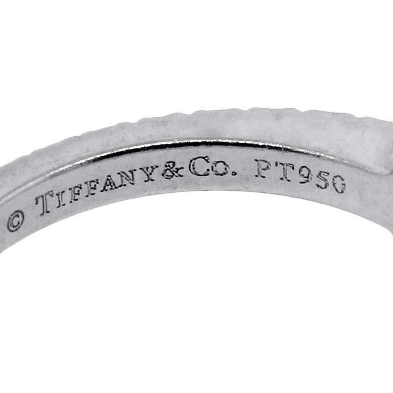 Tiffany & Co. Platinum NOVO Square Cushion Diamond Engagement Ring 5