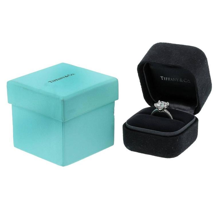 Tiffany & Co. Platinum NOVO Square Cushion Diamond Engagement Ring 8