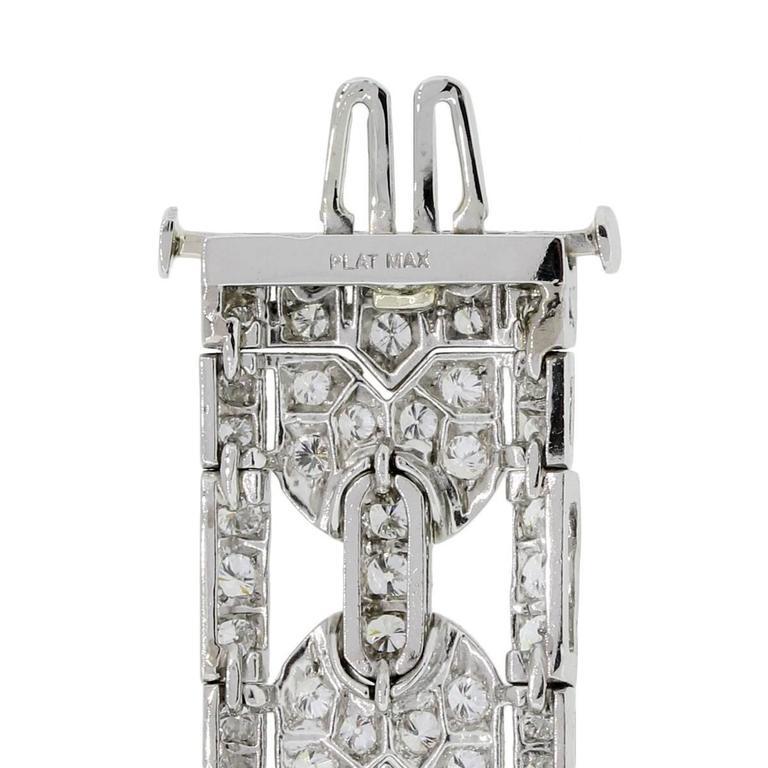 Women's Art Deco Diamond Platinum Bracelet For Sale