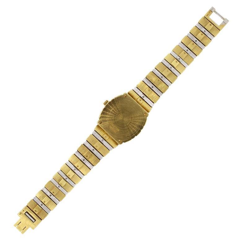 Women's Piaget Lady's Yellow and White Gold Diamond Quartz Wristwatch For Sale