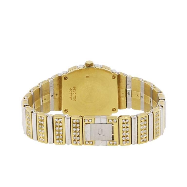 Piaget Lady's Yellow and White Gold Diamond Quartz Wristwatch For Sale 1