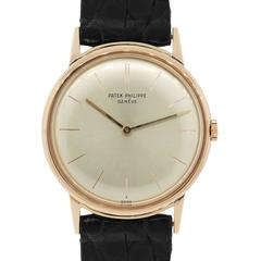 Patek Philippe Rose Gold Calatrava Wristwatch