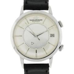 Jaeger LeCoultre Stainless Steel Memovox Automatic Wristwatch