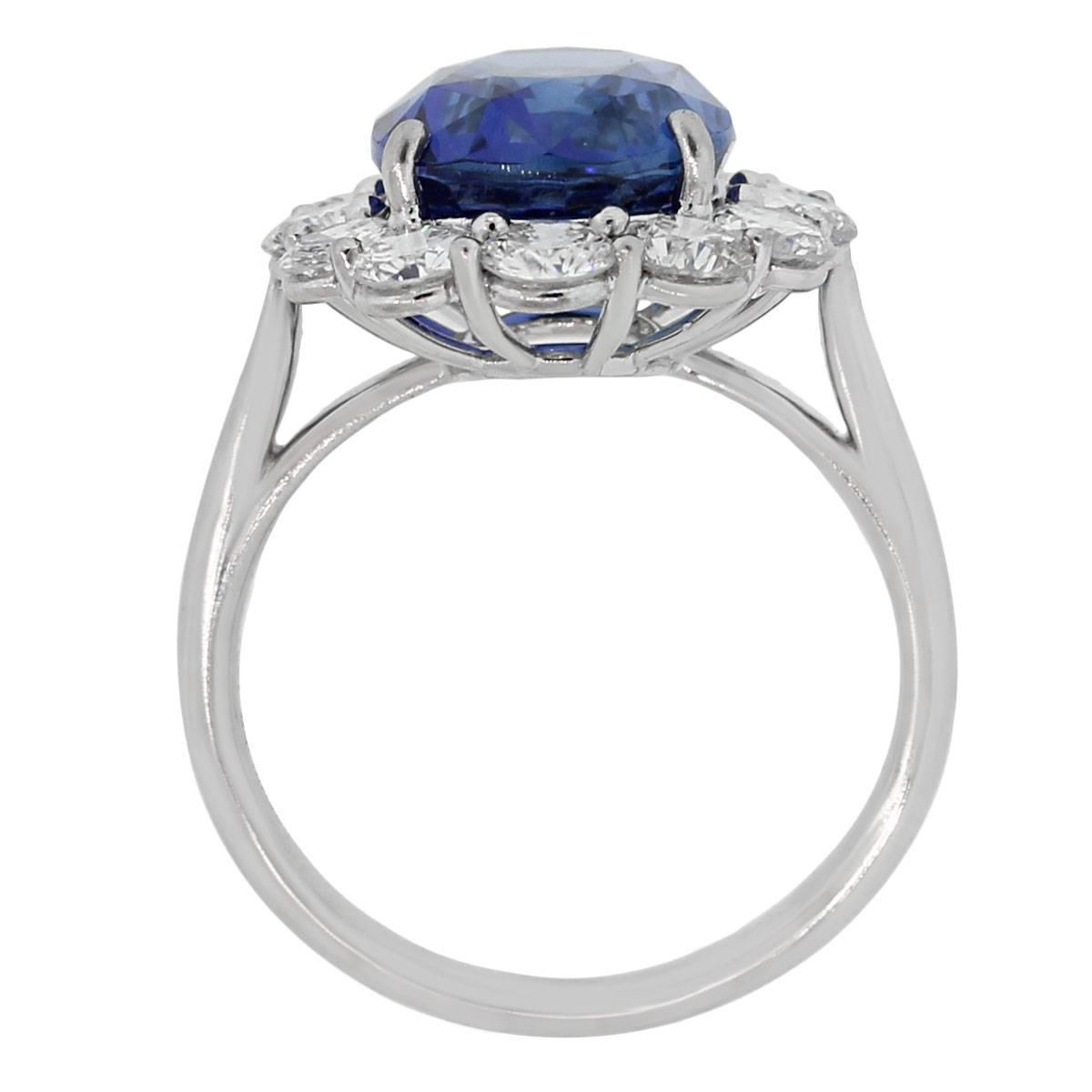 sapphire platinum engagement ring at 1stdibs