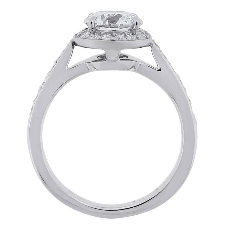 Tiffany & Co. 0.94 Carat Diamond Platinum Engagement Ring 4